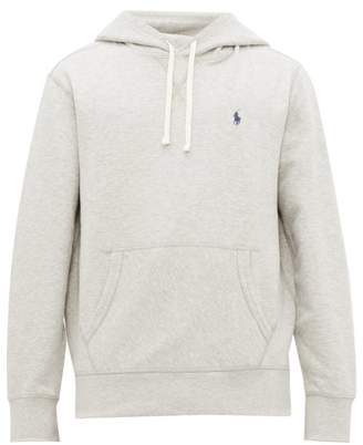 Polo Ralph Lauren Logo Embroidered Cotton Blend Hooded Sweatshirt - Mens - Grey