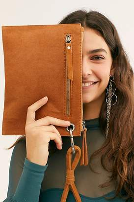 Free People Fp Collection Mixed Material Essential Clutch by FP Collection at