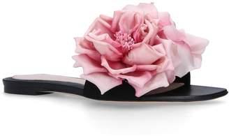 Alexander McQueen Suede Flower Sandals