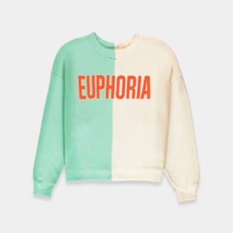 Essentiel Mint Green and Beige Bicolor Euphoria Sweatshirt - 2