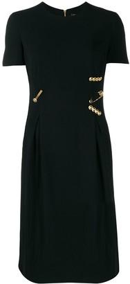 Versace Safety-Pin Midi Dress