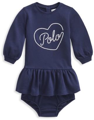 Ralph Lauren Baby Girl's Long-Sleeve Ruffle Dress