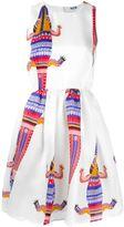 MSGM crocodile print dress - women - Silk/Polyester - 40
