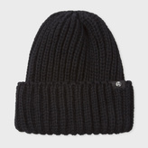 Paul Smith Men's Black British Wool Beanie Hat