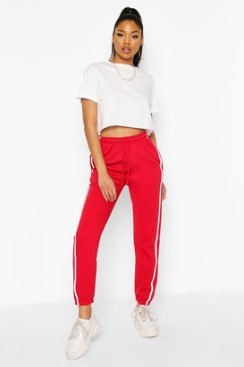 boohoo Regular Fit Stripe Detail Joggers