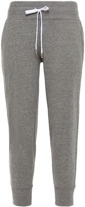 DKNY Printed Melange Cotton-blend Track Pants