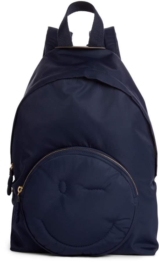 Anya Hindmarch Chubby Smiley Nylon Backpack