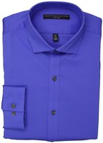 """Geoffrey Beene Men's Fitted Twill Solid, Blue Crystal, 15.5"""" Neck 32""""-33"""" Sleeve"""