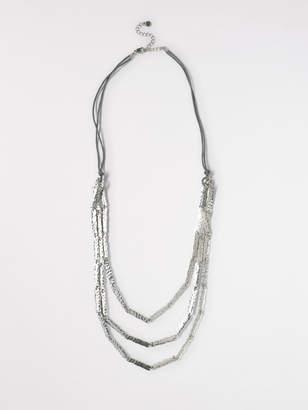 White Stuff Layered Oblong Necklace