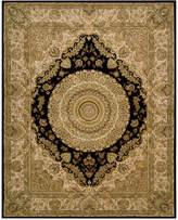 "Nourison Area Rug, Wool & Silk 2000 2233 Black 9'9"" x 13'9"""