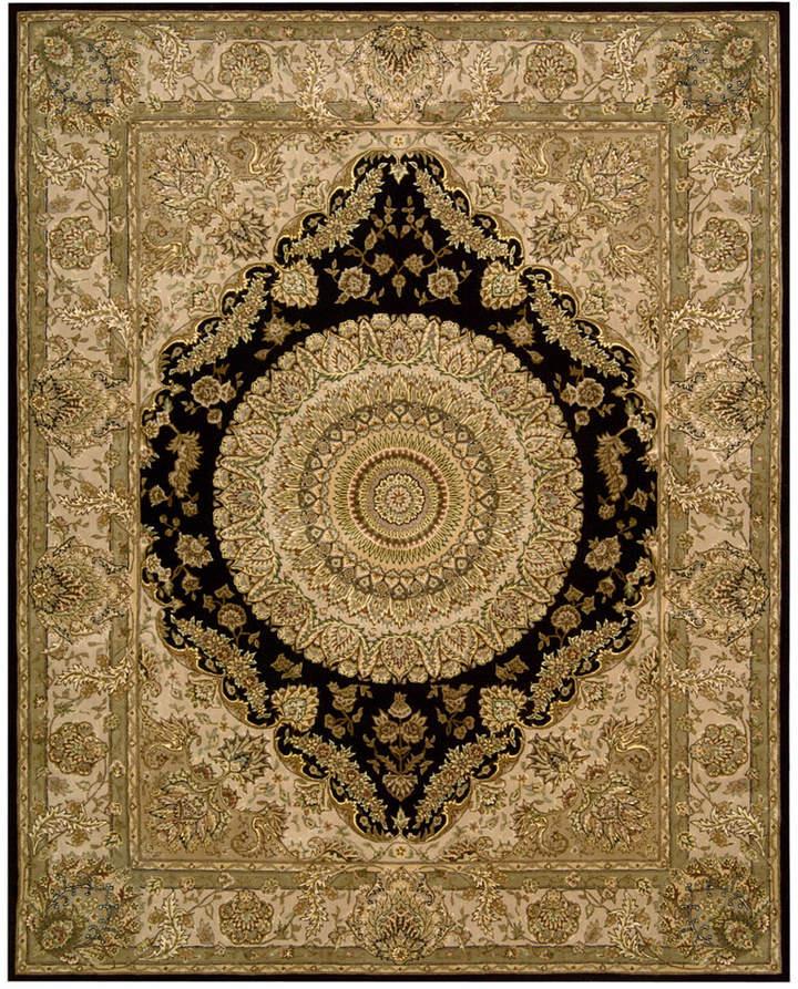 "Nourison Area Rug, Wool & Silk 2000 2233 Black 8'6"" x 11'6"""