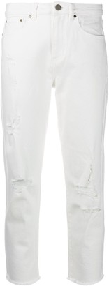 MICHAEL Michael Kors Cropped Ripped Jeans