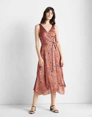 Club Monaco Printed Wrap Dress