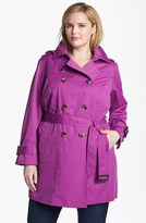 London Fog Heritage Trench with Detachable Liner (Plus Size)
