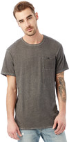 Alternative Raw Edge Smoked Wash Organic Pima Cotton Pocket T-Shirt