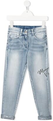 MonnaLisa Logo Print Jeans