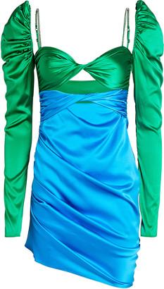 The Bar Silk Twist Front Mini Dress