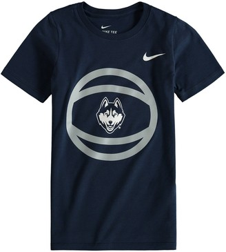 Nike Preschool Navy UConn Huskies Basketball and Logo T-Shirt