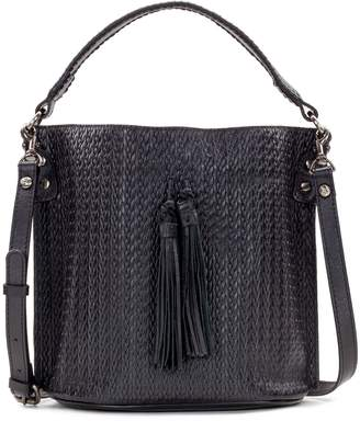 Patricia Nash Leather Embossed Woven Bucket Bag - Otavia