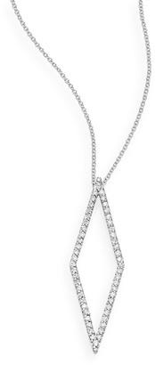 Effy 14K White Gold and Diamond Geometric Pendant Necklace
