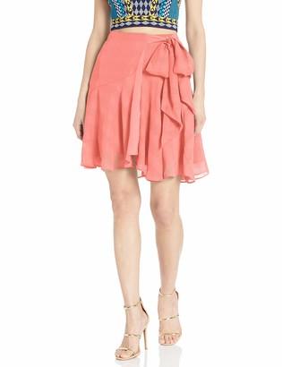 Finders Keepers findersKEEPERS Women's Rio Side Wrap Short Mini Skirt