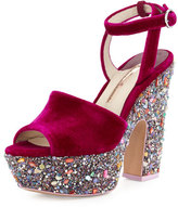 Sophia Webster Havisham Platform Wedge, Winter Cherry