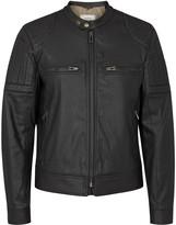 Belstaff Slipway Black Coated Denim Biker Jacket