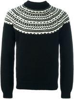 Saint Laurent fair isle knitted jumper