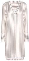 Brunello Cucinelli Striped silk dress