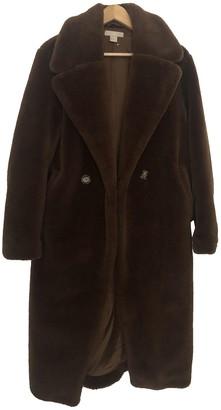 H&M Conscious Exclusive Brown Faux fur Coats
