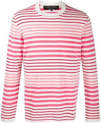 Comme des Garcons Striped Crew-Neck Jumper
