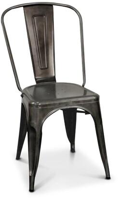 Apt2B Oxford Metal Chair GUNMETAL - SET OF 4