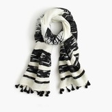 J.Crew Textured striped scarf