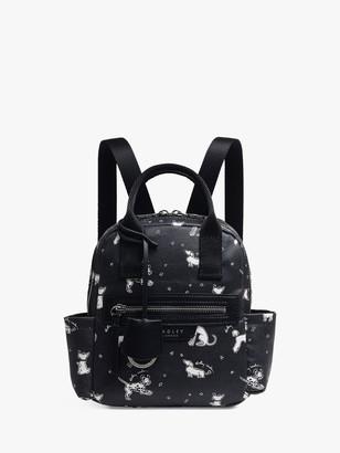 Radley Maple Cross Fun Pups Small Zip Top Backpack, Black