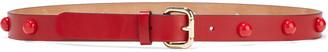 Red(V) Studded Leather Belt