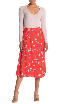 Trixxi Floral Print Midi Skirt