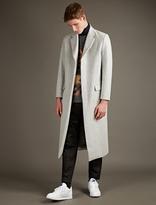 Matthew Miller Pale Grey Durden Wool Overcoat