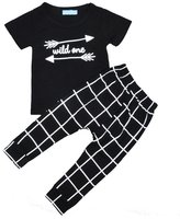 Phenovo 2pcs Newborn Toddler Infant Kids Baby Boy Clothes T-shirt Tops+Pants Outfits Set