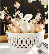 Pottery Barn Pierced Ceramic Basket