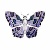 Purple Monarch Butterfly Pin