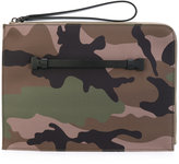 Valentino camouflage pouch - men - Acrylic/Polyamide - One Size