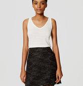LOFT Midnight Tweed Skirt