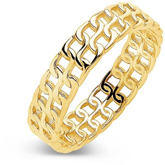 Sterling Forever 14K Gold Vermeil Chain Ring