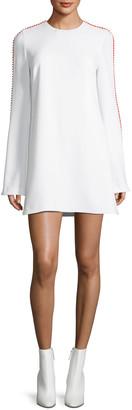 Galvan Misti Pompom-Trim Shift Dress