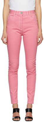 Balmain Pink High-Waist Jeans