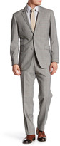 English Laundry Tan Glenplaid Two Button Notch Lapel Suit