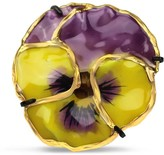 Bellus Domina Gold Plated Natural Pansy Ring