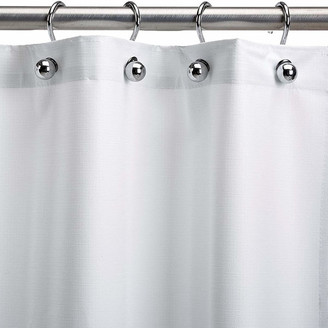 "CSI Bathware Assure White Vinyl Shower Curtain, 66""x72"""