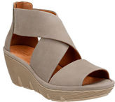 Clarks Artisan Artisan Clarene Glamor Nubuck Leather Wedge Sandals