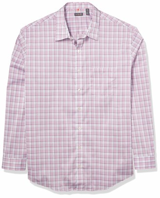 Van Heusen Men's Big & Tall Big and Tall Traveler Stretch Long Sleeve Button Down Blue/White/Purple Shirt